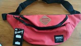 Waistbag/tas slempang pria&wanita MERAH/RED