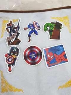 Superheroes Stickers(24 designs)(water proof)