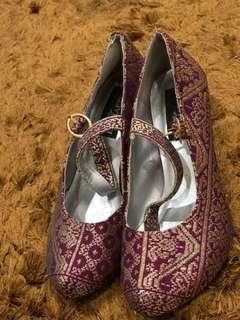 Exclusive Songket tenun shoes