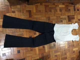 Set of Plains&Prints blouse AND Dorothy Perkins denim pants