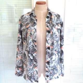 AUTHENTIC TOPSHOP LIGHTWEIGHT FLORAL SHACKET