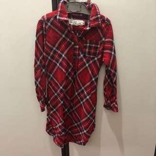 Dress kotak merah H&M