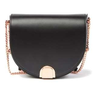 PO Ted Baker London Izzy Flip Clasp Moon Leather Bag RRP249 USD