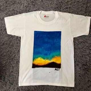 Colorful handpainted unisex shirt