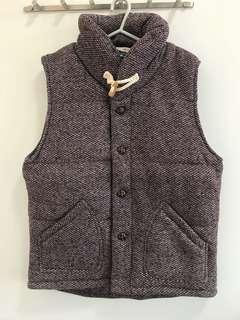 韓國製絨料夾棉背心