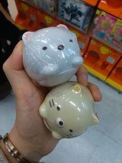 角落生物扭蛋全新,白熊,貓咪(換炸豬扒,恐龍)