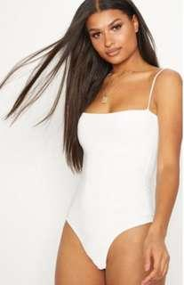 PLT white bodysuit