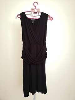 Black Cross  Waist Dress