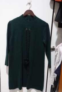 Dark Green Wool Dress