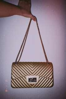 Jelly Gold purse/sling bag