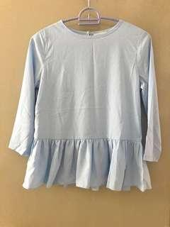 Sincerely Baby Blue Top Blouse #TGV3