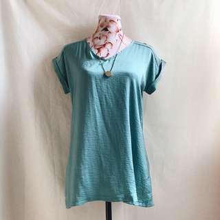 Forever 21 Teal Blouse