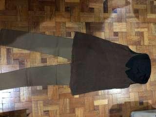 Set of brown pants and sleeveless top