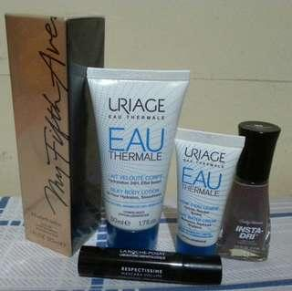 My Fifth Avenue by Elizabeth Arden Perfume + Uriage body lotion and light water cream bundle