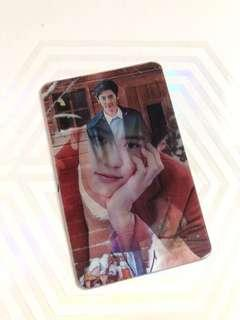 Chanyeol official nature republic lenticular card