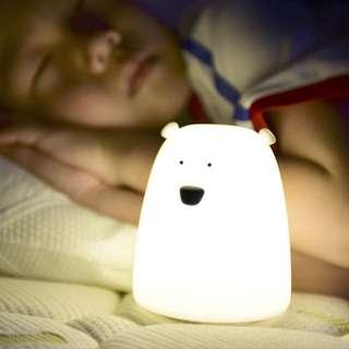 Colourful Bear Soft Silicon LED Light Night Lamp