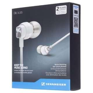 Sennheiser CX3.00 In-ear Earphones White with 2 Year Local Warranty