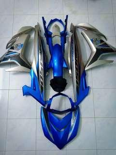 Y15zr Cover set Silver Biru Original Motor