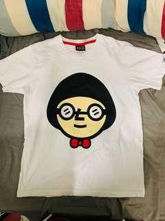 台灣品牌 Best Friend 白色冬菇頭短T-shirt 二手有一點污積