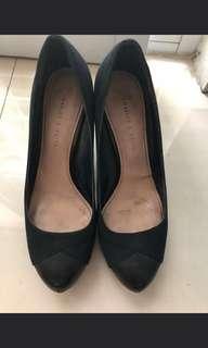 Sepatu charles and keith ori wrn hitam