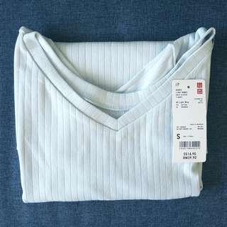 🆕️ UNIQLO 2 Way Ribbed Half Sleeve Women Tshirt Top #MMAR18