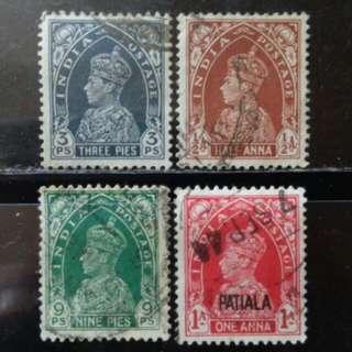 [郵票上的毒物!? lapyip1230] 英屬印度帝國 1938年 舊票Set VFU