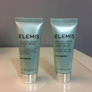 UK ELEMIS pro-collagen day and night deluxe sample set 15ml*2