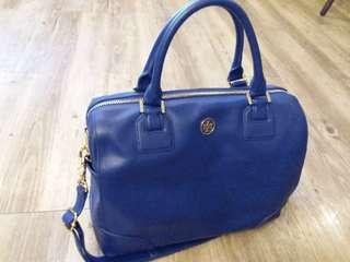 tory burch stunning blueberry color bag