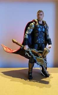 Marvel Legends Infinity War Thor With BAF & Custom Wired 2 Sided Cape