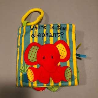 (包郵) BB 布書 —Where is the elephant?