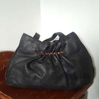 Boho black handbag