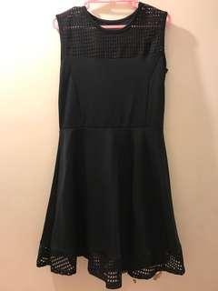 韓國 黑色 斯文 女裝 派對裙 修身線條 小性感 謝師宴 飲宴 大方得體 made in Korea black dress A-line slim cutting banquet party dress sexy simple and elegant