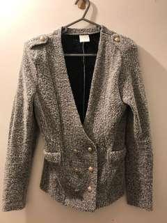 灰色 外套 保暖 Tweed Jacket keep warm grey colour