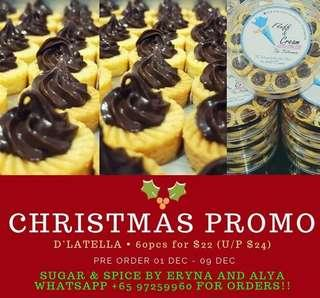 D'LATELLA TART - NOT THE USUAL NUTELLA TART (CHRISTMAS PROMO)