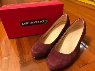Dr Kong platform heels shoes 船踭鞋 高踭鞋 舒適 絨面