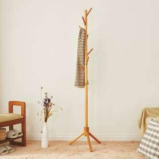 🚚 [Weekend OFFER] Pinewood Floor Stand Pole Coat Hat Hanger Rack for Hall Entry Living Room Office