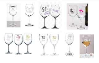 Personalized wine glass for Souvenir in any event
