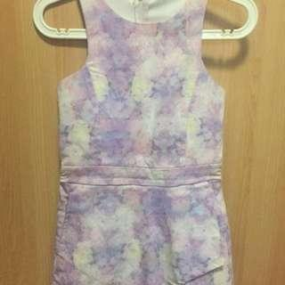 Faded floral romper