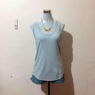 FOREVER 21 Light Blue Tank Top