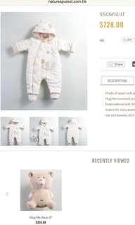 Nature's Purest snowsuit 3-6m