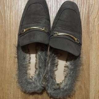 Gucci Inspired Fur Mules