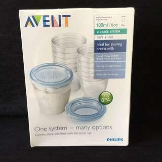 Avent Storage Cups BNIB With Sealed