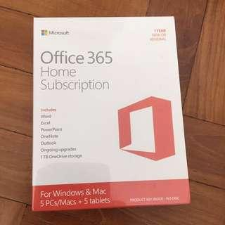 🚚 Microsoft Office 365 Home for 5 Users 1 Year Subscription