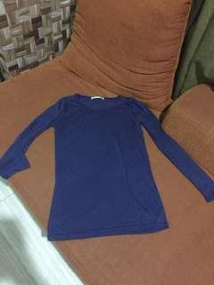 Blue basic long sleeves