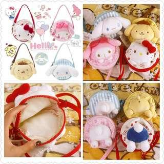 *Clearance Offer* Assorted Character Mini Sling Bag (Yellow PomPomPurin left)