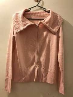 Pink Jacket wool knitwear