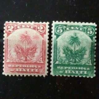 [lapyip1230 古董新票] 海地共和國 1898年 新票全套 Set Mint