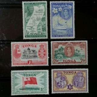 [lapyip1230] 英屬東加王國 1950年 英佔條約五十年 新票全套 Set Mint