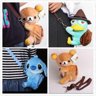 *Clearance Offer* Assorted Cartoon Character Sling Bag (Only Stitch left)