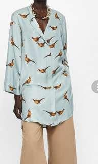 Zara satin oversized top. Fit up to uk14